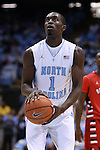 07 November 2014: North Carolina's Theo Pinson. The University of North Carolina Tar Heels played the Belmont Abbey College Crusaders in an NCAA Division I Men's basketball exhibition game at the Dean E. Smith Center in Chapel Hill, North Carolina. UNC won the game 112-34.