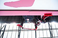 BRONX, NY - Saturday April 9, 2016: The New York Red Bulls lose 2-0 to Sporting Kansas City at home at Red Bull Arena during the 2016 MLS regular season.