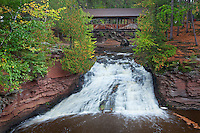 Amnicon Falls State Park, WI<br /> Covered bridge over the Amnicon River
