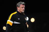 Wayne Hatswell assistant manager of Newport County during the Sky Bet League Two Play-off Semi Final: First Leg match between Newport County and Mansfield Town at Rodney Parade in Newport, Wales, UK.  Thursday 09 May 2019