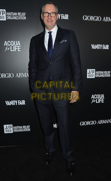 Edward Menicheschi (Vanity Fair Publisher).Attending the Giorgio Armani party to celebrate Paris Photo Los Angeles at Paramount Studios, Hollywood, California, USA, .25th April 2013..full length grey gray blue suit tie white shirt glasses hand in pocket .CAP/ADM/BT.©Birdie Thompson/AdMedia/Capital Pictures