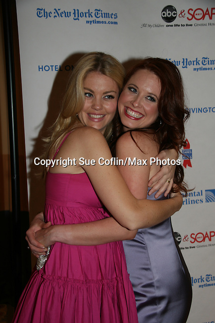 "One Life To Live's Bree Williamson ""Jessica"" & Melissa Archer at the 6th Annual ABC/SoapNet salutes Broadway Cares/Equity Fights Aids - An Evening of Musical Entertainment & Comedy on March 21, 2010 at the New York Marriott Marquis, New York City, New York. (Photo by Sue Coflin/Max Photos)"
