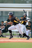 Pittsburgh Pirates first baseman Jhoan Herrera (67) during an Instructional League intersquad scrimmage on September 29, 2014 at the Pirate City in Bradenton, Florida.  (Mike Janes/Four Seam Images)