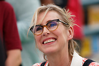Pictured: Lauren Child signs copies of her book<br /> Re: Hay Festival at Hay on Wye, Powys, Wales, UK. Saturday 02 June 2018