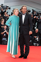 "Alexandre Desplat, Dominique Lemonnier at the ""Suburbicon"" premiere, 74th Venice Film Festival in Italy on 2 September 2017.<br /> <br /> Photo: Kristina Afanasyeva/Featureflash/SilverHub<br /> 0208 004 5359<br /> sales@silverhubmedia.com"