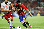 Georgia's Lobzhanize and Spain's Nolito during the up match between Spain and Georgia before the Uefa Euro 2016.  Jun 07,2016. (ALTERPHOTOS/Rodrigo Jimenez)