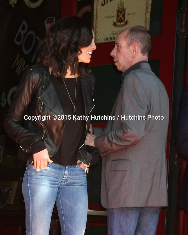 LOS ANGELES - MAR 5:  Daniela Ruah, Miguel Ferrer at the Chris O'Donnell Hollywood Walk of Fame Star Ceremony at the Hollywood Blvd on March 5, 2015 in Los Angeles, CA