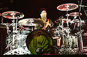 MIAMI, FL - JUNE 15: Josh Dun of Twenty One Pilots performs at the AmericanAirlines Arena on June 15, 2019 in Miami Florida. Credit Larry Marano © 2019