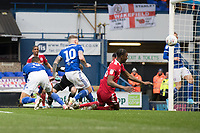 Kayden Jackson of Ipswich Town finishes to score the opening goal during Ipswich Town vs Accrington Stanley, Sky Bet EFL League 1 Football at Portman Road on 11th January 2020