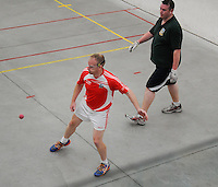 20th September 2014; <br /> M Donnelly All-Ireland Mens Over-35 60x30 Handball Singes Final<br /> Dale Cusack (Cork) v Conor O'Connor (Meath)<br /> Abbeylara, Co Longford<br /> Picture credit: Tommy Grealy/actionshots.ie