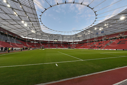 25.02.2016. Leverkusen, Germany. UEFA Europa League football. Bayer Leverkusen versus Sporting Lisbon. The stadium fills with fans pregame