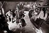 BELIZE, Punta Gorda, Toledo District, a group of musicians play in the Maya village of San Jose, Morning Star Group, (B&W)