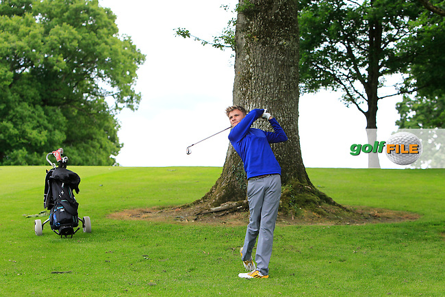Brian McGuinness (Claremorris) on the 10th during Round 1 of the 2016 Leinster Boys Amateur Open Championship at Mullingar Golf Club on Tuesday 21st June 2016.<br /> Picture:  Golffile | Thos Caffrey