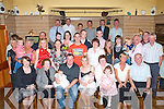 DOUBLE JOY: Proud parents John and Fiona Brosnan Caherweeseen (seated 3rd & 4th left) of Twins Boys Oisi?n and Fiona?n celebrating their Christening with family and friends at Stokers Lodge restaurant and bar on Saturday.   Copyright Kerry's Eye 2008