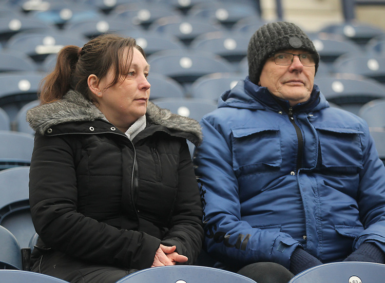 Preston North End's Fans anticipate the kick-off<br /> <br /> Photographer Mick Walker/CameraSport<br /> <br /> The EFL Sky Bet Championship - Preston North End v Swansea City - Saturday 12th January 2019 - Deepdale Stadium - Preston<br /> <br /> World Copyright &copy; 2019 CameraSport. All rights reserved. 43 Linden Ave. Countesthorpe. Leicester. England. LE8 5PG - Tel: +44 (0) 116 277 4147 - admin@camerasport.com - www.camerasport.com