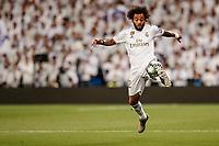 6th November 2019; Estadio Santiago Bernabeu, Madrid, Spain; UEFA Champions League Football, Real Madrid versus Galatasaray; Marcelo Viera (Real Madrid)  controls the ball   - Editorial Use