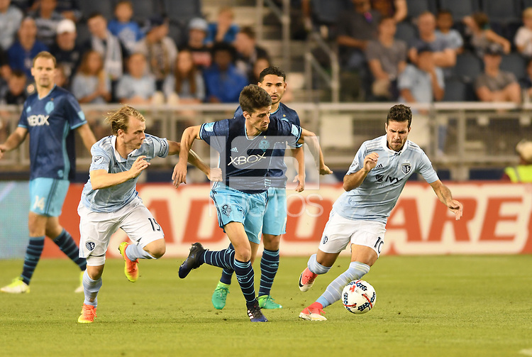 Kansas City, Kansas - May 17, 2017: Sporting Kansas City defeated Seattle Sounders FC 3-0 in MLS action at Children's Mercy Park.