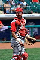 Williamsport Crosscutters catcher Francisco Diaz (2) during game against the Brooklyn Cyclones at MCU Park on August 3, 2011 in Brooklyn, NY.  Brooklyn defeated Williamsport 3-2.  Tomasso DeRosa/Four Seam Images