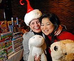Chairs Andy Delery and Gigi Huang at the Carmen and David Bridges Joyful Toyful Fiesta 19th Annual Holiday Toy Drive Party at Gigi's Asian Bistro & Dumpling Bar in the Galleria Tuesday Dec. 01,2009. (Dave Rossman/For the Chronicle)