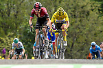 Geraint Thomas (WAL) Team Ineos and Yellow Jersey Julian Alaphilippe (FRA) Deceuninck-Quick Step battle up La Planche des Belles Filles at the end of Stage 6 of the 2019 Tour de France running 160.5km from Mulhouse to La Planche des Belles Filles, France. 11th July 2019.<br /> Picture: Serge Waldbillig   Cyclefile<br /> All photos usage must carry mandatory copyright credit (© Cyclefile   Serge Waldbillig)