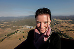 Allison with a view of  Middletown, California from a hot air balloon on Saturday July 14th 2012. (Photo By Brian Garfinkel)