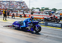 Sep 4, 2017; Clermont, IN, USA; NHRA pro stock motorcycle rider Matt Smith during the US Nationals at Lucas Oil Raceway. Mandatory Credit: Mark J. Rebilas-USA TODAY Sports