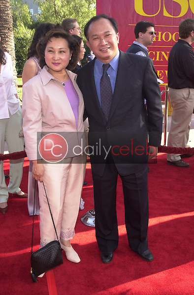 John Woo and Wife