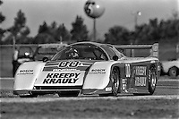 DAYTONA BEACH, FL - FEBRUARY 5: The March 83G 4/Porsche driven by Sarel van der Merwe, Graham Duxbury and Tony Martin is driven during practice for the 24 Hours of Daytona IMSA GT race at the Daytona International Speedway in Daytona Beach, Florida, on February 5, 1984.