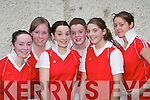 ANNUAL BLITZ: The St Paul's Killarney u16 team that competed in the St Mary's Annual Christmas Basketball blitz in St John's Hall, Castleisland on Saturday were l-r: Sinead Cronin, Jennifer Courtney, Niamh Moloney, Laura O'Donoghue, Rheanne O'Shea and Aoife Coffey.   Copyright Kerry's Eye 2008