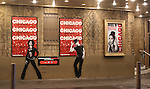 Theatre Marquee for Mel B starring in Broadway's 'Chicago' at  the Ambassador Theatre in New York City.