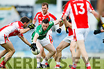 Alan Fitzgerald West Kerry in action against Shaun Keane Legion in the Quarter Final of the Kerry Senior County Championship at Austin Stack Park on Sunday.