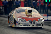 Oct. 31, 2008; Las Vegas, NV, USA: NHRA pro stock driver Greg Stanfield during qualifying for the Las Vegas Nationals at The Strip in Las Vegas. Mandatory Credit: Mark J. Rebilas-