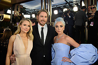 Golden Globe nominee, Kristen Bell, Dax Shepherd and Golden Globe nominee, Lady Gag arrive at the 76th Annual Golden Globe Awards at the Beverly Hilton in Beverly Hills, CA on Sunday, January 6, 2019.<br /> *Editorial Use Only*<br /> CAP/PLF/HFPA<br /> Image supplied by Capital Pictures
