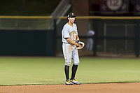 Surprise Saguaros shortstop Cole Tucker (2), of the Pittsburgh Pirates organization, during an Arizona Fall League game against the Scottsdale Scorpions at Scottsdale Stadium on October 15, 2018 in Scottsdale, Arizona. Surprise defeated Scottsdale 2-0. (Zachary Lucy/Four Seam Images)