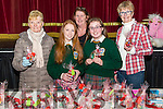 l-r Kathleen Sheehan from Killorglin, Michelle O'Connor from Glencar, Susan O'Connor from Killorglin, Tyler O'Sullivan from Killorglin and Christine Healy from Killorglin pictured at the Christmas Fair in CYMS, Killorglin last Saturday.