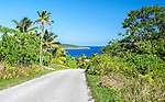 Road with a view on the island of Niue