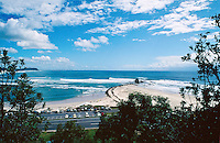 Currumbin Alley during the swell generated from Cyclone Betsy. Betsy is considered one of the best cyclone swells in the past 20 years. Kirra Point, Coolangatta, Queensland, Australia. circa 1992. Photo: joliphotos.com