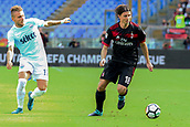 September 10th 2017, Olimpic Stadium, Rome, Italy; Serie A football league, Lazio versus AC Milan;   Riccardo Montolivo breaks away from Immobile