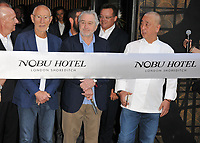 Robert De Niro and Nobu Masushita at the Nobu Hotel Shoreditch official launch party, Nobu Hotel Shoreditch, Willow Street, London, England, UK, on Tuesday 15 May 2018.<br /> CAP/CAN<br /> &copy;CAN/Capital Pictures