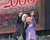 Richard and Lynne Cheney wave to supporters after his acceptance speech as the Republican nominee as Vice President of the United States at the 2000 Republican National Convention at the First Union Center in Philadelphia, Pennsylvania on August 2, 2000.<br /> Credit: Ron Sachs - CNP