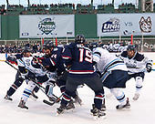 Spencer Naas (UConn - 8), Blaine Byron (Maine - 89), Benjamin Freeman (UConn - 24), Evan Richardson (UConn - 19), Keith Muehlbauer (Maine - 18), Eric Schurhamer (Maine - 25) - The University of Maine Black Bears defeated the University of Connecticut Huskies 4-0 at Fenway Park on Saturday, January 14, 2017, in Boston, Massachusetts.