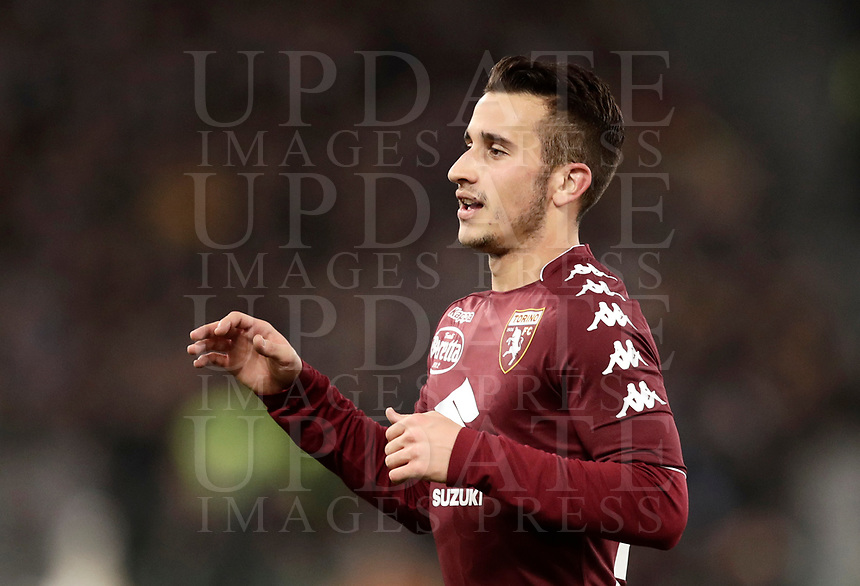 Calcio, Serie A: Roma, stadio Olimpico, 11 dicembre 2017.<br /> Torino's Alejandro Berenguer celebrates after scoring during the Italian Serie A football match between Lazio and Torino at Rome's Olympic stadium, December 11, 2017.<br /> UPDATE IMAGES PRESS/Isabella Bonotto