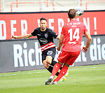 27.06.2020, Stadion an der Wuhlheide, Berlin, GER, DFL, 1.FBL, 1.FC UNION BERLIN  VS. Fortuna Duesseldorf , <br /> DFL  regulations prohibit any use of photographs as image sequences and/or quasi-video<br /> im Bild Ken Reichel (1.FC Union Berlin #14), Steven Skrzybski (Fortuna Duesseldorf #20)<br /> <br /> <br />      <br /> Foto © nordphoto / Engler