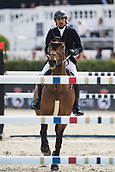 28th September 2017, Real Club de Polo de Barcelona, Barcelona, Spain; Longines FEI Nations Cup, Jumping Final; Abdullah Humaid AL MUHAIRI (UAE)  riding Cha Cha Cha 7 during the first round of the Nations Cup