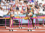 Sally PEARSON (AUS, right) clears the last hurdle in the womens 100m hurdles heats. IAAF world athletics championships. London Olympic stadium. Queen Elizabeth Olympic park. Stratford. London. UK. 11/08/2017. ~ MANDATORY CREDIT Garry Bowden/SIPPA - NO UNAUTHORISED USE - +44 7837 394578