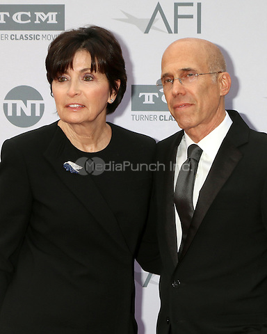 LOS ANGELES, CA - JUNE 9: Marilyn Katzenberg, Jeffrey Katzenberg at the American Film Institute 44th Life Achievement Award Gala Tribute to John Williams at the Dolby Theater on June 9, 2016 in Los Angeles, California. Credit: David Edwards/MediaPunch