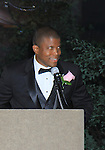 """Master of Ceremony Sharif Atkins (White  Coller """"Agent Jones"""", ER """"Michael Gallant"""", The Good Wife and more) as Alpha Kappa Alpha Sorority, Incorporated Pi Psi Omega Chapter welcomes you to """"A Pink Carpet Affair"""" - celebrating 25 years of Sisterhood and Service on June 9, 2012 at the Comfort Inn and Suites, Nanuet, New York.  (Photo by Sue Coflin/Max Photos)"""