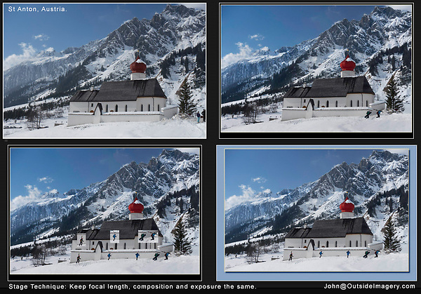 Austria, St Anton.  Stage Technique &amp; Photoshop.<br />