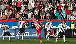 Almami da Silva Moreira of Partizan Belgrade, left, falls as Oliveira Savio of Red Star Belgrade tackles him during the Serbian League soccer match in Belgrade, Serbia, Saturday, October  24, 2010. (Srdjan Stevanovic/Starsportphoto.com)