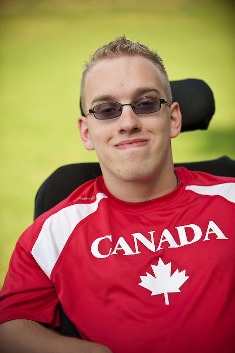 "3/12/2012 - Brock Richardson is featured in a photoshoot for the Canadian Paralympic Committee Recruitment Ad Campaign entitled ""It's More Than Sport"". Photo Credit: Canadian Paralympic Committee/Frédéric Solenthaler"